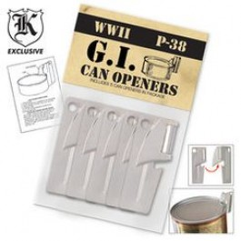 Set of 5 G.I. Can Openers