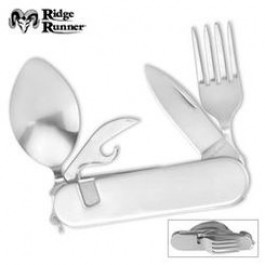 Camp Tool with Knife, Fork, Spoon and Can Opener