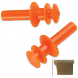 Military Issue G.I. Earplugs with Case & Chain