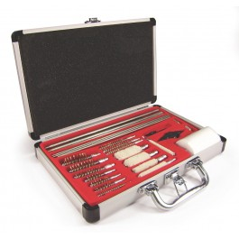 27 pc. Deluxe Gun Cleaning Kit – Aluminum Case