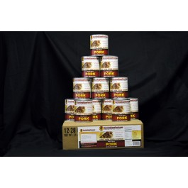 Survival Cave Food - Pork - 12 cans 28oz each