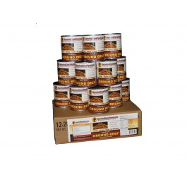 Survival Cave - Ground Beef - 12 cans - Emergency Food Supply