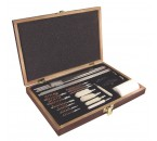 27 pc. Deluxe Gun Cleaning Kit – Wood Case