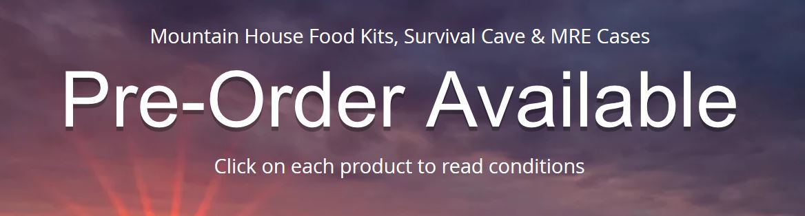 Mountain House Food,Survival Cave Food, MRE Meals