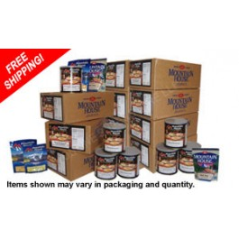"""Basic"" 1-Year - Emergency Food Storage Kit Featuring Mountain House Freeze Dried Food"