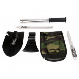 Survival 6 in 1 Folding Multi-Purpose Shovel