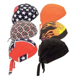 6 Piece Bikers Skull Cap Set