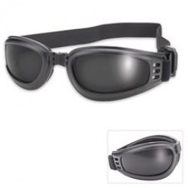 Black/Smoke Folding, Floating Goggles