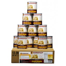 Survival Cave - 12 cans - 6 Beef & 6 Chicken - Emergency Food Supply