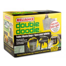 Double Doodie Waste Bags with Bio-Gel