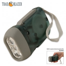 3 LED Dynamo Hand Crank Flashlight