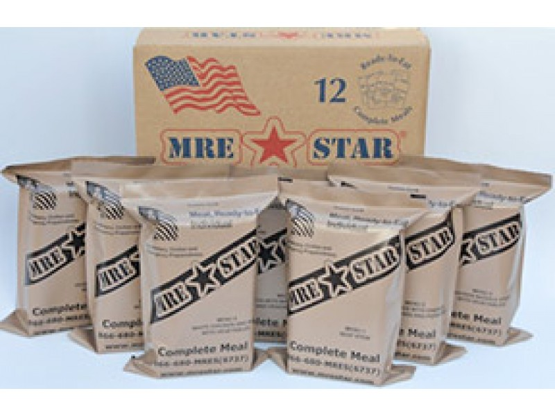 MRE Star- Full Case of 12 MRE Meals (with Heaters) 80a42c5597