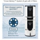 Crown Berkey Water Purification System (6 gal) with 4 Filters