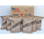 MRE Star - Full Case of 12 Vegetarian MRE Meals (w/Heaters)