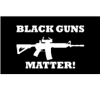 Black Guns Matter Flag