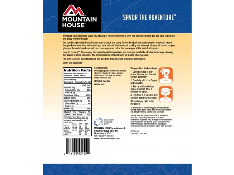 Mountain House - Freeze dried Precooked Scrambled Eggs